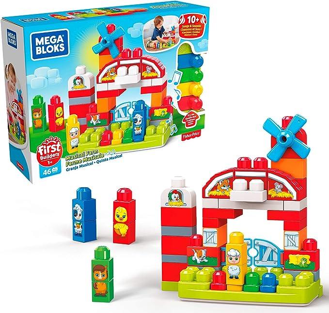 Amazon Com Mega Bloks Musical Farm Toys Games