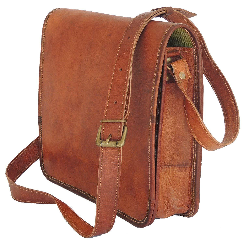 Leather bag Fair Deal / Full flap bag / laptop bag / best computer shoulder briefcase /  Handmade leather bag messenger bag for I pad / brown bag  by Fair Deal (Image #2)