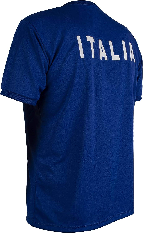 JL Sport Italy Shirt Retro Football Short Sleeve Mens Top