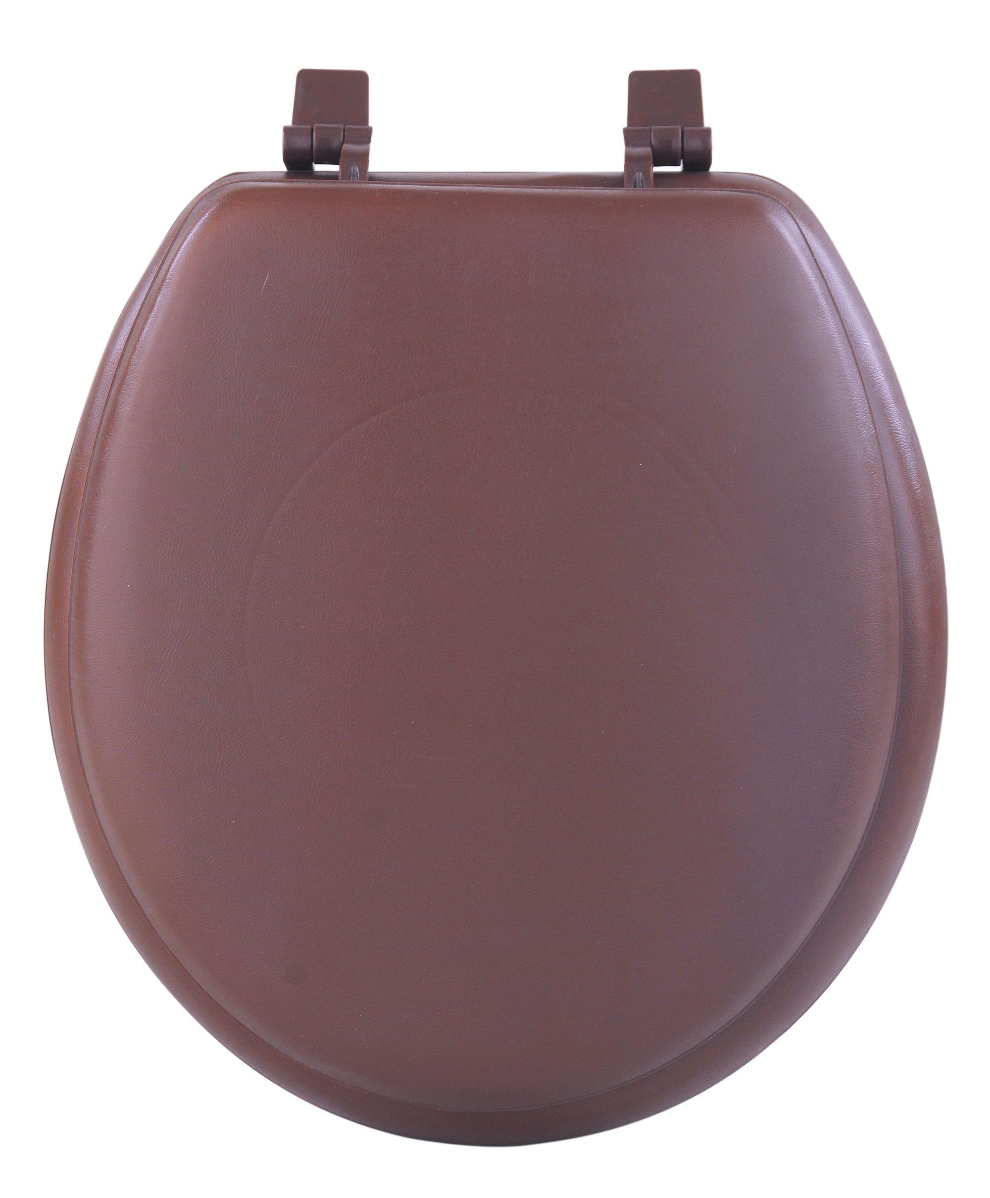 Achim Home Furnishings TOVYSTCH04 17-Inch Fantasia Standard Toilet Seat, Soft Chocolate