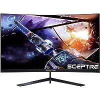 Sceptre Monitor LED de 24 Pulgadas Curvado 144Hz para Videojuegos, sin Bordes, AMD FreeSync DisplayPort HDMI, Metal Negro 2019 (C248B-144RN)