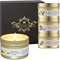Scentalicious Scented Candles Gift Set, Aromatherapy Candles, Valentines, Birthday, Diwali - Pure Soy Wax & Essential…
