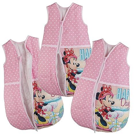 Saco de dormir para bebé Minnie Ratón de Color Rosa Bebé Saco de dormir Saco