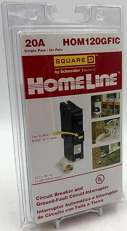 Details about  /Square D Homeline 120 1 pole 20 amp Circuit Breaker