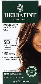 Herbatint - hierbas tinte permanente Gel 5D luz castaño dorado - de 4,5 oz.