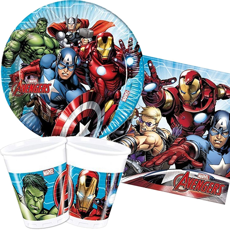 Marvel Avengers Power 8 Stück Pappteller Kinder Geburtstag Partygeschirr