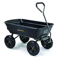 Deals on Gorilla Carts GOR4PS Poly Garden Dump Cart 600 lb Capacity