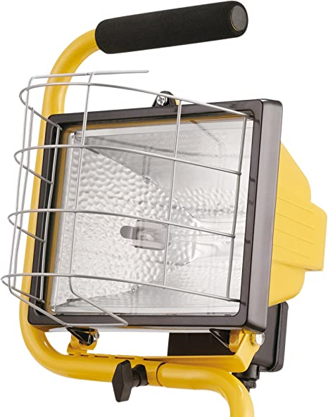 APUK Rectangular Halogen Work Light with Protective Grill Tractor Plough working lamp