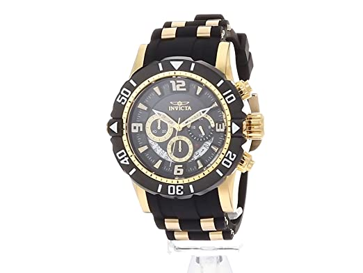 Amazon.com: Invicta Mens Pro Diver Quartz Stainless Steel and Polyurethane Diving Watch, Color:Two Tone (Model: 23702): Watches