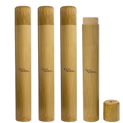 Estuches de bambú para cepillos de dientes para adultos ...