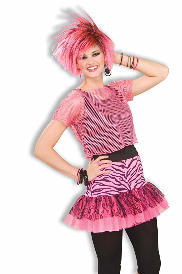 80s Costumes, Outfit Ideas- Girls and Guys Womans Pop Party Zebra Print  Skirt Costume $5.00 AT vintagedancer.com
