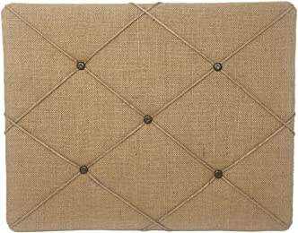 ReLIVE Burlap Covered Bulletin Picture Board, 19.75 x 15.75