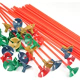 TRIXES 100 bastoncini porta palloncini con coppa, decorazione multi colore per festa