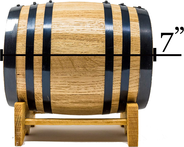 1 Liter Premium Charred American Oak Aging Barrel No Engraving