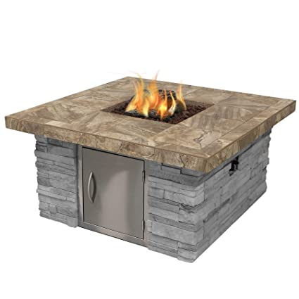 Amazon Com Cal Flame Fpt S301m Ns Cultured Stone Propane Gas Fire