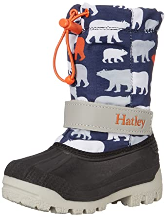 Hatley Boys' Winter Boots Polar Bears, Blue, ...