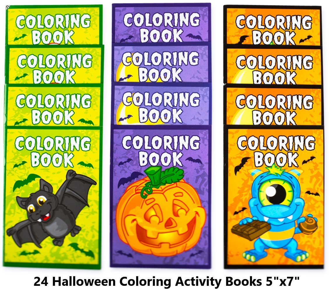 Neliblu Halloween Character Fun Coloring Activity Books Halloween Treats for Treat or Treaters, Halloween Party Supplies Non Candy Halloween Treat Alternative (Pack of 24) by Neliblu