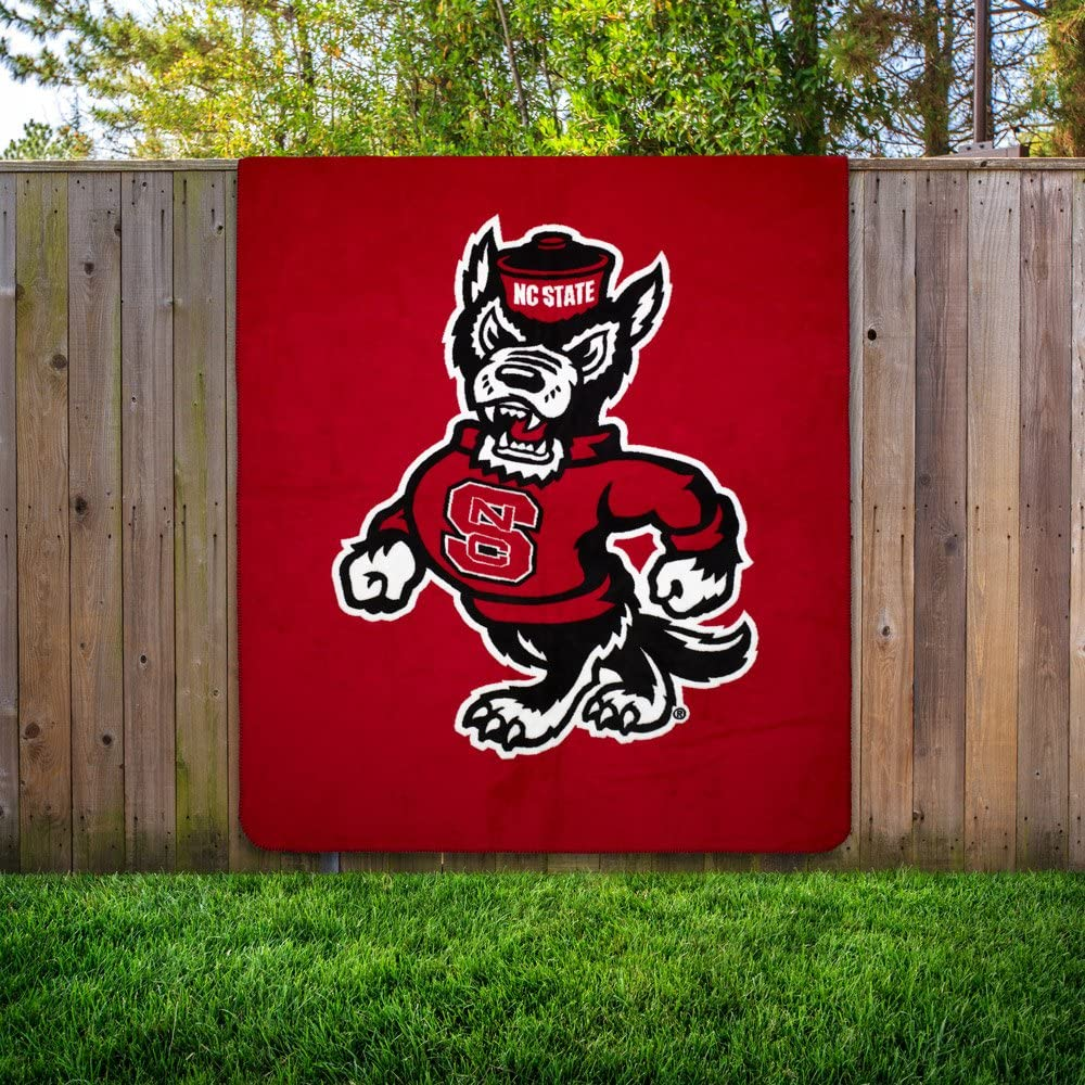 Officially Licensed NCAA Denali Silver Knit Throw Blanket 60 x 72 Multi Color
