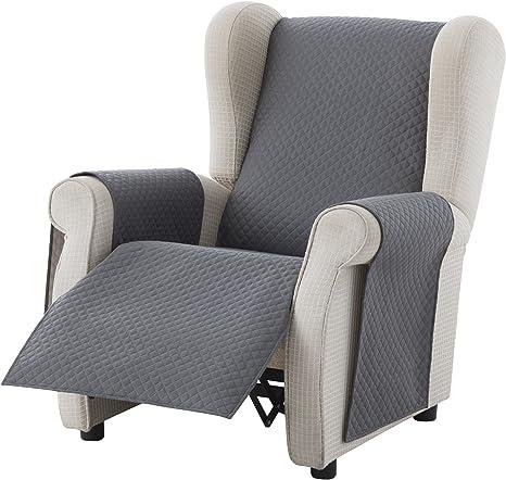 Reversibel gepolsterter Sofaschutz Farbe Braun 1 Sitzer Textil-home Sesselschoner Relax Adele