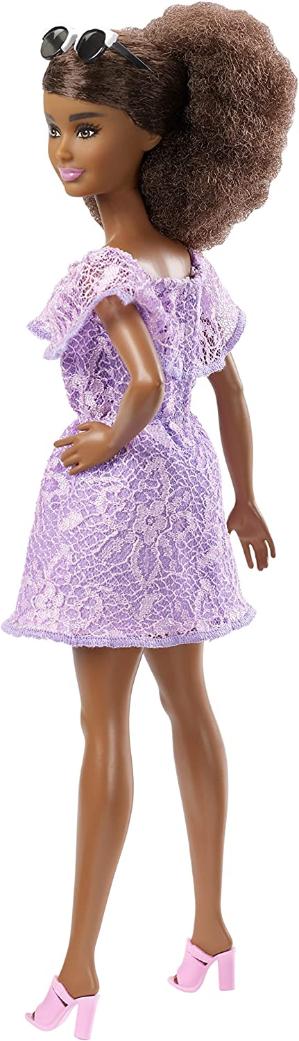 Barbie Fashionistas #93 Living Lace Doll Lavender Dress Mattel Brand New in box