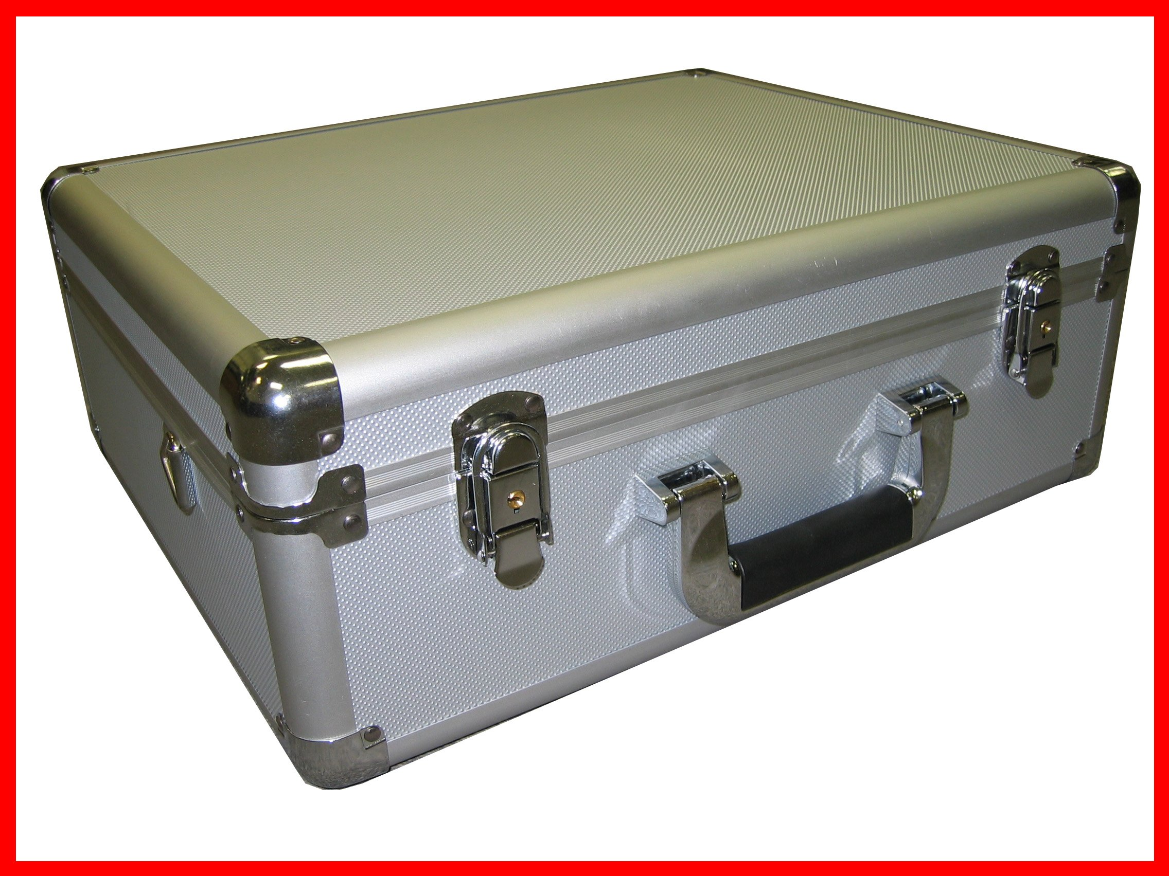 SILVER Aluminum Camera Case also for Tools and small Equipments With Foam Ship to Canada and USA
