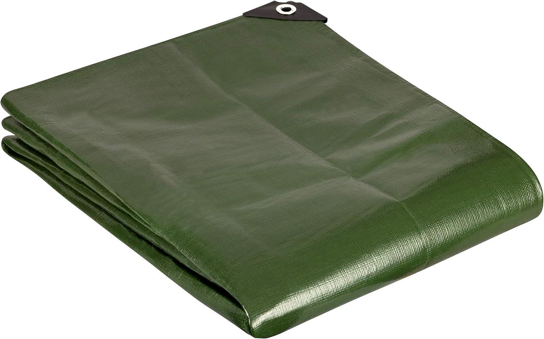 GardenMate 3x4m 200g/m2 Lona de protección prémium verde - Funda protectora - Malla geotextil