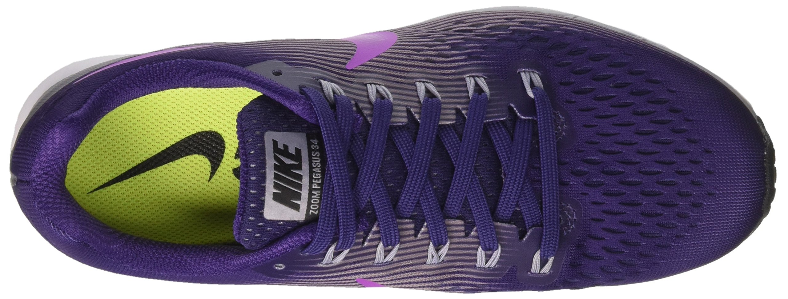 Nike Women's Air Zoom Pegasus 34 Running Shoes-Ink/Hyper Violet-6 by Nike (Image #7)