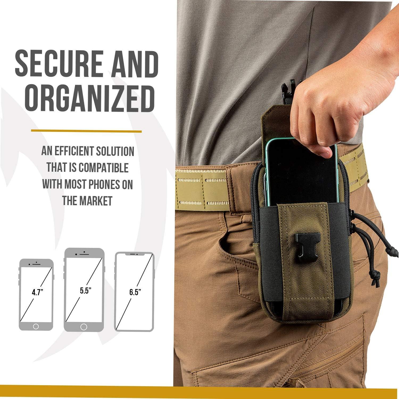 OneTigris Doppelte Handytasche EDC-Beutel 2-lagiger NylonTelefonhalter