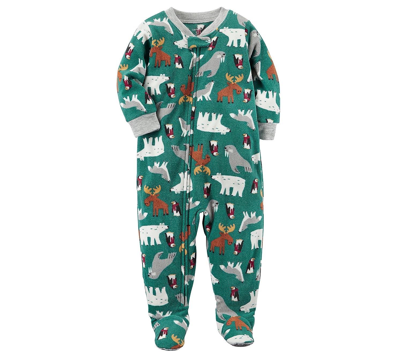 88252f6bb Amazon.com  Carter s Boys  1-Piece Multi Animal Fleece Pajamas  Clothing