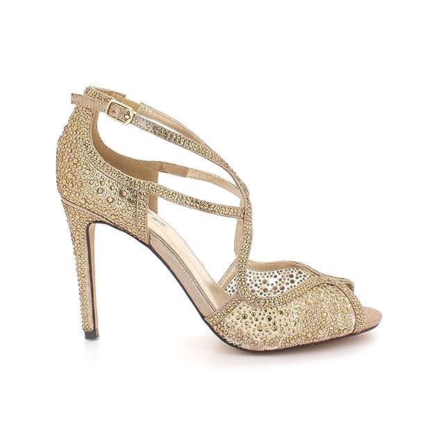 93e8066d0 AARZ LONDON Women Ladies Diamante Evening Wedding Party Prom Bridal Peeptoe  High Heel Sandals Shoes Size  Amazon.co.uk  Shoes   Bags