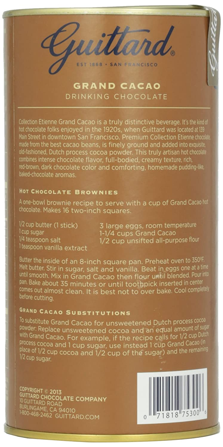 Amazon.com : Guittard Chocolate Grand Cacao Drinking Chocolate, 10 ...