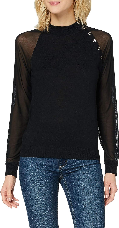 Morgan Pull Manches Longues Transparentes Mabi Suéter para Mujer