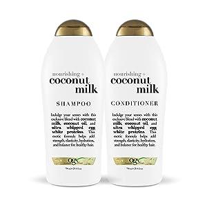 OGX Nourishing + Coconut Milk Shampoo & Conditioner, Set