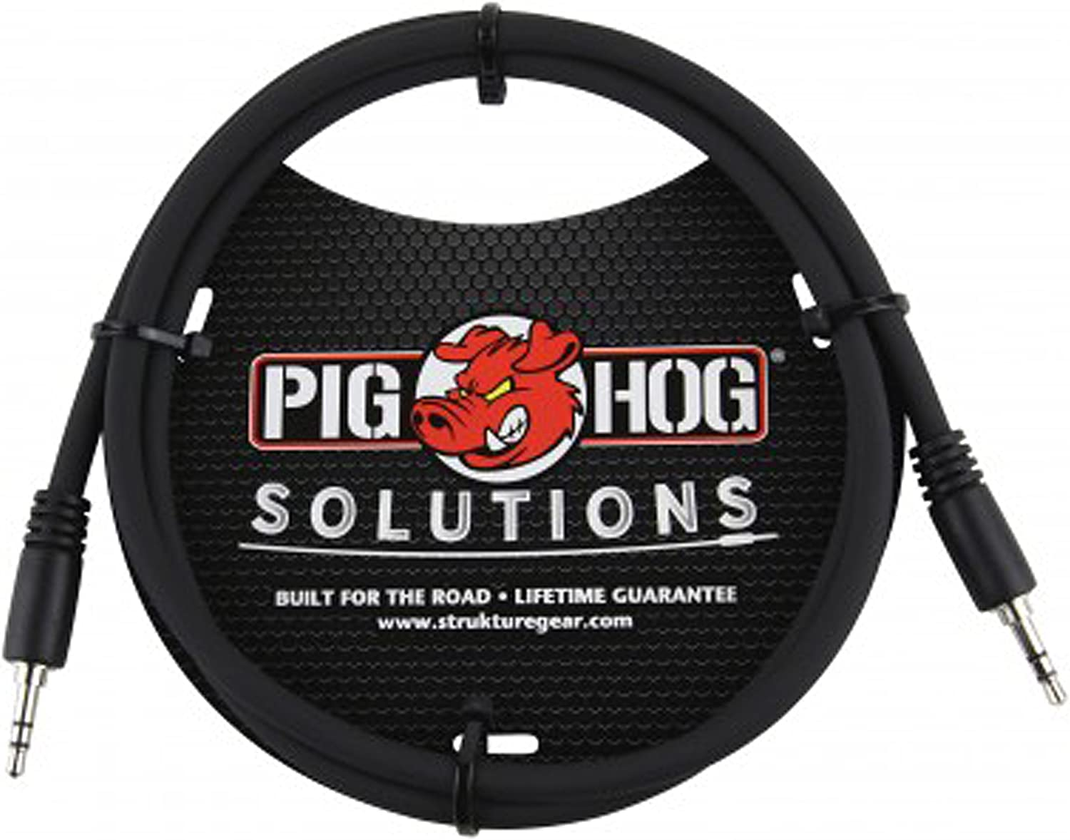 """10 ft. Pig Hog 3.5mm TRS to 1//4/"""" Mono Instrument Cable PX-35T4M"""