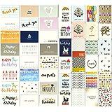 48 张所有场合贺卡 - 各种开心生日、谢谢、婚礼、空白设计、信封 - 10.16 x 15.24 cm