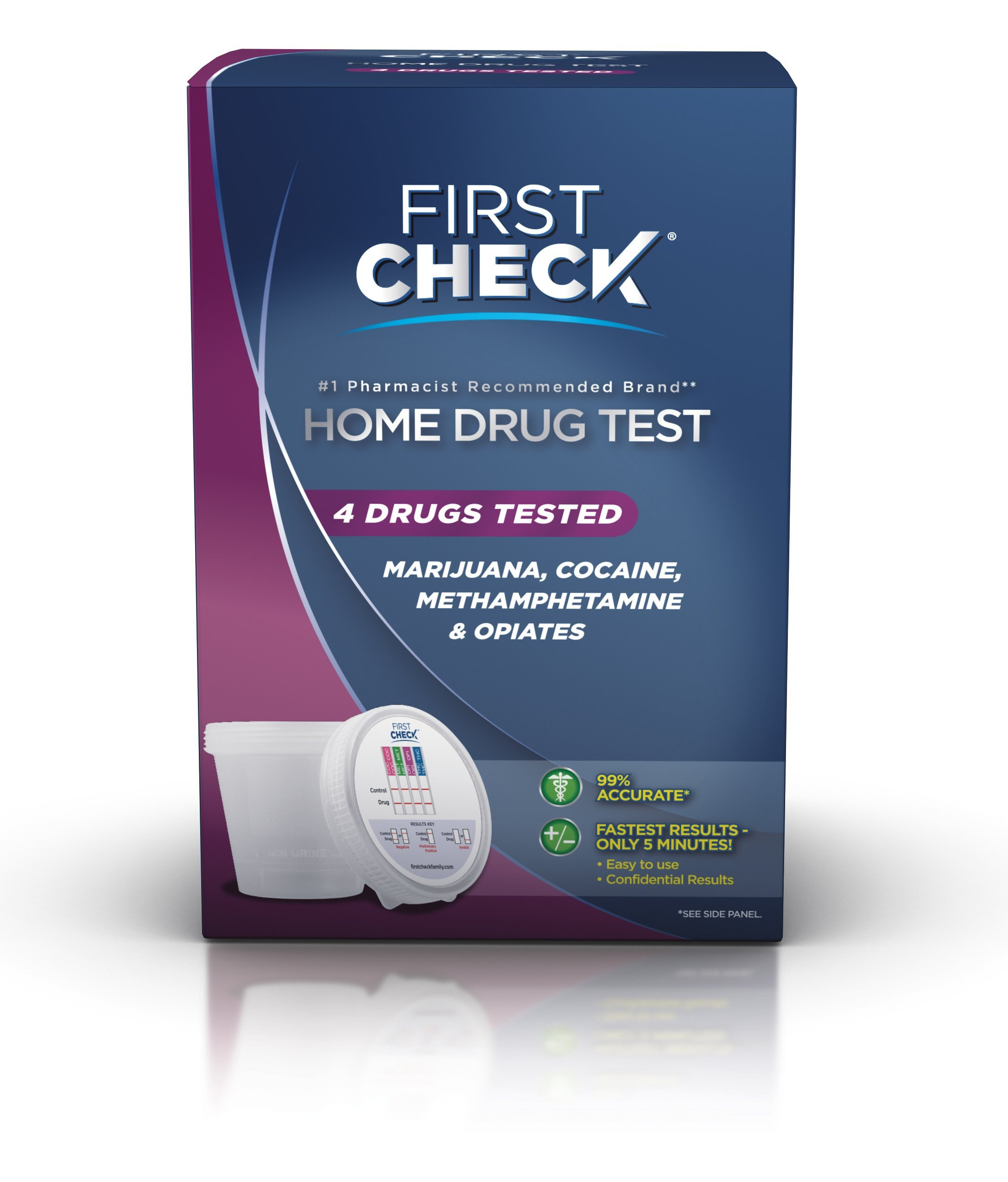 First Check Home 4 Drug Test, 1 ct