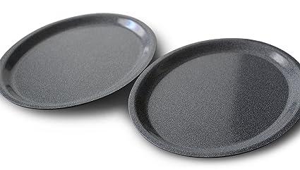 2 x bandeja Gastro 26 x 20 cm ovalada Camarero Bandeja para servir gläserta blett Taza