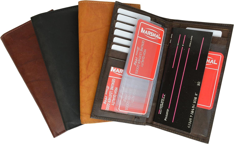 100/% Leather Bi-fold Credit Card Holder Brown #853CF