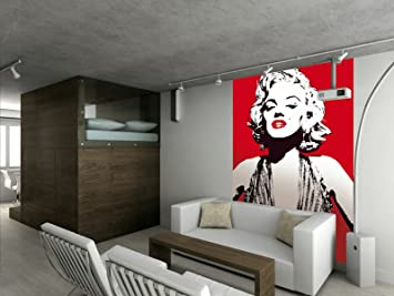 Perfect 1Wall Marilyn Monroe Wallpaper Wall Mural Stunning Red And White Licensed  Digital Print Great Pictures