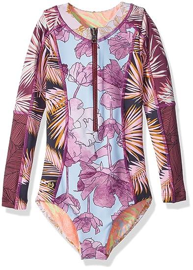 871be653cf8 Amazon.com: Maaji Girls' Mixed Print Long Sleeve One Piece Swimsuit:  Clothing