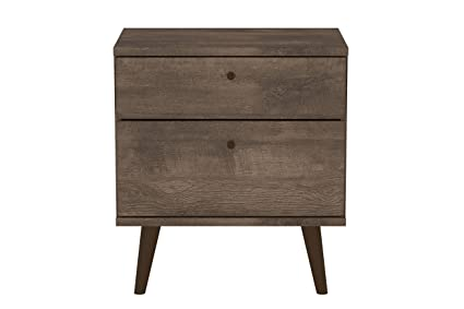 Midtown Concept 2-Drawer Nighstand, Distressed Brown