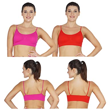 Swati Garments Slim Bra Punch (Pink)-Red(Pack of 2): Amazon in