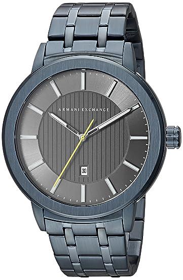 de25b9d6e Armani Exchange AX1458 - Reloj casual para hombre, color azul ...