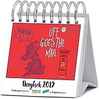 Denglisch 2019: Aufstellbarer Typo-Art Postkartenkalender. Jede Woche ein neuer Spruch. Hochwertiger Wochenkalender für den Schreibtisch