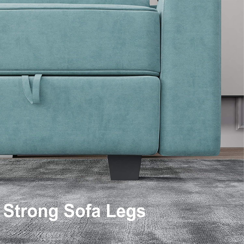 HONBAY Side Armrest Module for Modular Sofa Pair of Armrests for Sectional Modular Couch Aqua Blue
