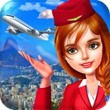 Stewardess and Flight Attendants - Professional Cabin Crew in a famous World Traveler Airline