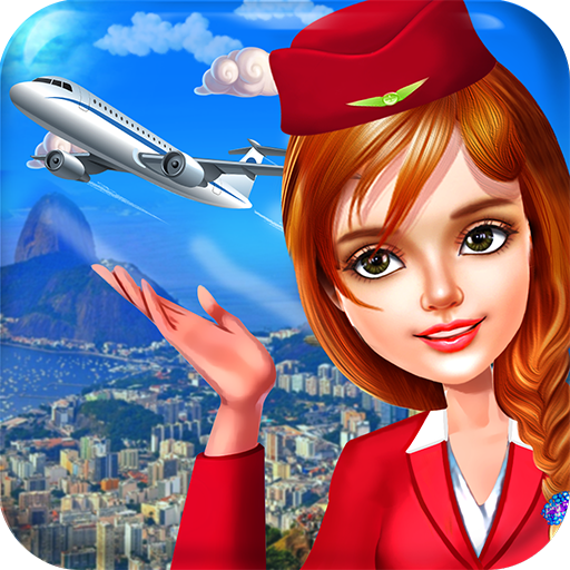 Duty Professional Level (Stewardess and Flight Attendants - Professional Cabin Crew in a famous World Traveler Airline)