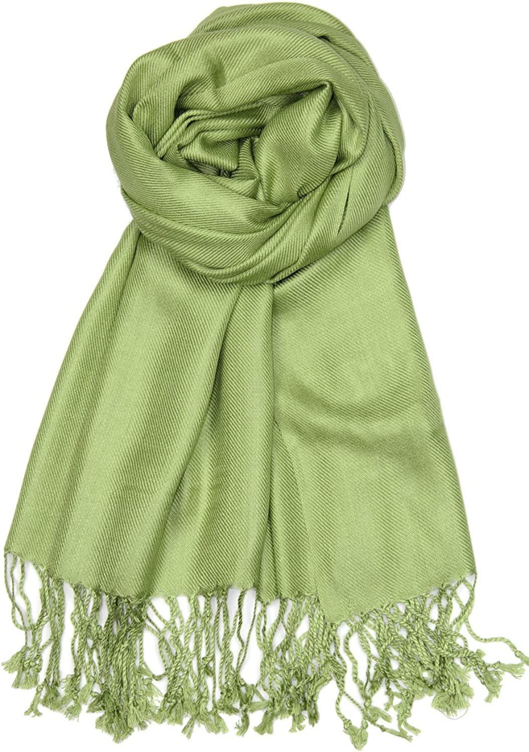Achillea Soft Silky Solid Pashmina Shawl Wrap Scarf for Wedding Bridesmaid Dress