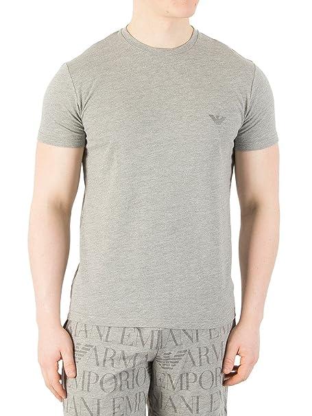 Emporio Armani Hombre Atrás Camiseta del Logotipo, Gris: Amazon.es: Ropa y accesorios