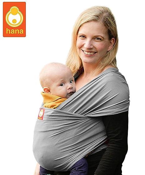 Portador para bebés Hana de tejido de bambú elástico ...